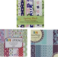 Tootpado Spring, Spring Back, Serene Blossous 6x6 Size Craft Paper (Set Of 3) - 1l1202 - For Art, Card Making And Scrapbooking