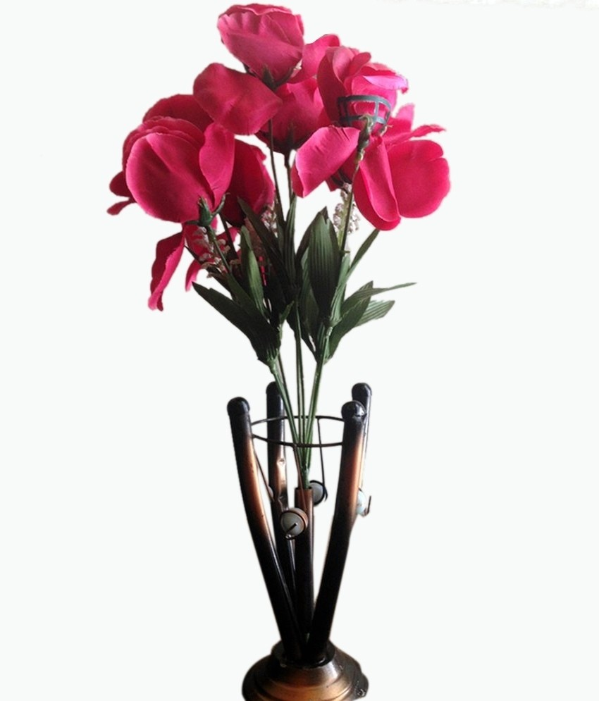 PaisaWapas & E-Plant Pink Assorted Artificial Flower with Pot