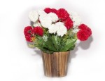 Magical Petals Magical Petals Red Carnations Artificial Flower with Pot