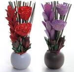 DECO aro DECO aro Red, Purple Assorted, Rose Artificial Flower with Pot