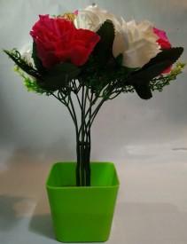 KAYKON Beautiful Red Rose Artificial Flower  with Pot
