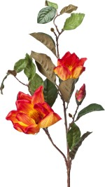 Kusal Orange Magnolia Artificial Flower