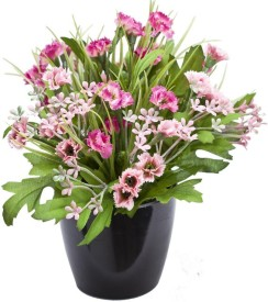 Kusal Pink Assorted Artificial Flower  with Pot
