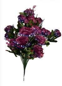 sn flower Artificial flower bunch dark purple Purple Rose Artificial Flower