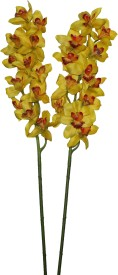 Pollination Yellow Orchids Artificial Flower