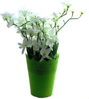 Importwala Orchid Arrangementhite White Orchids Artificial Flower