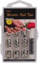 Nail Sina Artificial Nails Nail Sina Metallic Nail Tips Gold, Silver