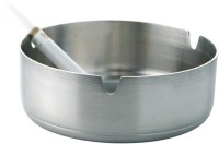 Montstar Bowl Type - 10 Cm Silver Stainless Steel Ashtray (Pack Of 1)