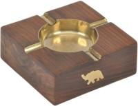 Artist Haat Wood Handicraft Handmade Brown Wooden Ashtray (Pack Of 1) - ASHEAJRJYA7DUC7N
