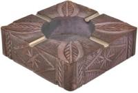 Artist Haat Wood Handicraft Handmade Brown Wooden Ashtray (Pack Of 1) - ASHEAJRJX6MZZDGW