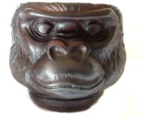 Craft Store India Monkey Multicolor Polyresin Ashtray (Pack Of 1)
