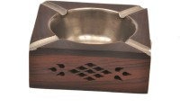 Artist Haat Wood Handicraft Handmade Brown Wooden Ashtray (Pack Of 1) - ASHEAJRJZ5GCKMGY