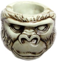Craft Store India Monkey White Polyresin Ashtray (Pack Of 1)