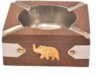 Artist Haat Wood Handicraft Handmade Brown Wooden Ashtray (Pack Of 1) - ASHEAJRJAAWNZTZV