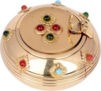 Craft Trade Gemstone Ashtray Gold Brass Ashtray (Pack Of 1)