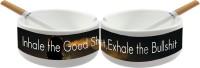 Huppme ASH TRAY White Ceramic Ashtray (Pack Of 1)