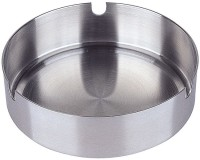 King International Silver Stainless Steel Ashtray (Pack Of 1)