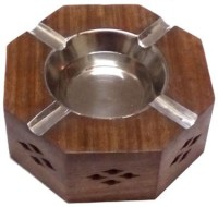 Afordia Wooden Ashtray Brown, Steel Wooden Ashtray (Pack Of 1)