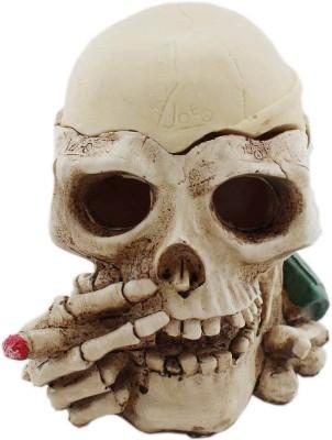 Tootpado Ashtray Skeleton With Cigar Design - 1b592 - Cigarette Ash Tray White Ceramic Ashtray