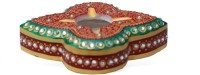 HD Techno Crafts Enameled Colored 5 Inch Multicolor Marble Ashtray (Pack Of 1)