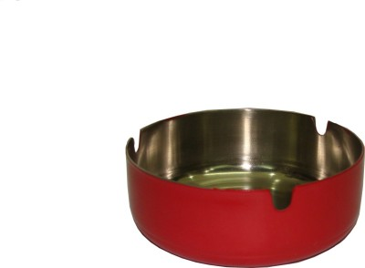 King Traders Red Stainless Steel Ashtray (Pack Of 1)