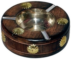 Onlineshoppee Brown Wooden Ashtray