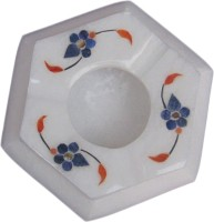 Artist Haat White Marble Ashtray (Pack Of 1)