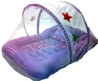 Gennext Baby Bed With Mosquito Net Convertable Bunk (high Quality Fibre And Net, Purple)