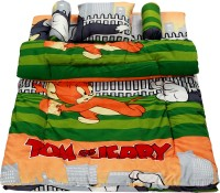 ROYAL SHRI OM KIDS 5 PIECE BEDDING SET FIVE PIECE BABY BEDDING SET CARTOON (COTTON, GREEN)