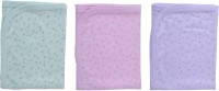 Zero Comfortable Baby Sheet Purple-Dark Pink-Light Green Cotton Sheet For Kids (Cotton, Purple, Dark Pink, Light Green)