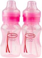 Dr .Brown'S Natural Flow Feeding Bottle 2pk (Pink) - 240ml (8oz) (Wide Neck) - 240 Ml (Pink)