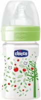 Chicco Well Being Feeding Bottle - 150 Ml (Green)