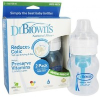 Dr.Brown's Wide Neck Bottle Pack Of 2 (4 Oz) - 240 Ml (White)