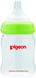 Pigeon Wide Neck Nursing 160ml with Plus Type Nipple - green - 160 ml