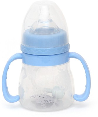 Buddyboo High Quality Food Grade Baby Feeding Bottle,BPA Free - 100 Ml (Blue)
