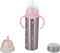 N&M Multifunctional Baby Steel Feeding Bottle With Attractive Color And Beautiful Design - Pink - 240 Ml (Pink)