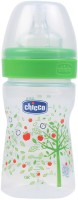Chicco Wellbeing Regular Flow Feeding Bottle (Green) - 150 Ml (Green)