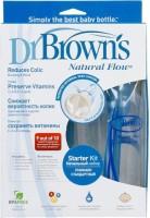 Dr Browns Natural Flow Feeding Starter Kit (Blue) - (1-4oz & 2-8oz Bot & 3-L1 2-L2 Nip)Std - 250 Ml (NA)