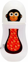 First Step Monkey Print Feeding Bottles Wide Neck - 240 Ml (Multicolor)