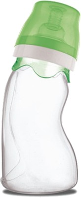Farlin Silicon Angle Shaped Plane Feeding Bottle 240cc - Green - 240 Ml (Green)