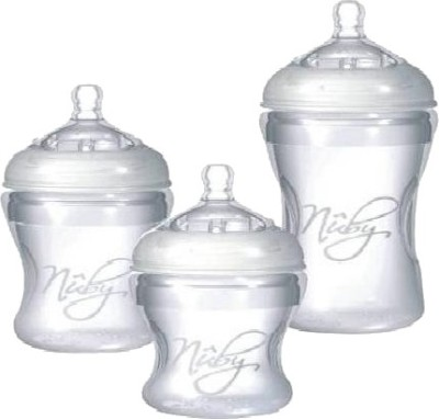 Nuby Silicone Bottle With Slow Flow Nipple - 150 Ml