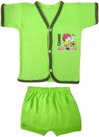 Jack & Ginni New Born Baby Clothes (Green)