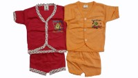 CEFFON New Born Baby Cotton Clothes (Multicolour)