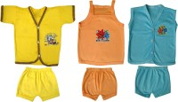 Jack & Ginni New Born Baby Clothes (Yellow, Orange, Blue)