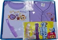 Jerry & Tom 6 Pcs Purple Baby Combo Gift Set (Purple)