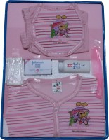 Jerry & Tom 8 Pcs Pink Baby Combo Gift Set (Pink)