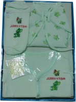 Jerry & Tom 5 Pcs Baby Combo Gift Set (Green)