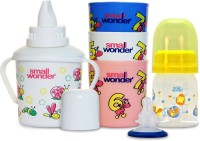 Small Wonder Admire Set Of 4 - Bpa Free Admire 60ml Pp Bottle, Breast Shield, 300ml Polypropylene Feeding Glass Set Of 3 & 300ml Polypropylene Baby Sipper White (Yellow, White)