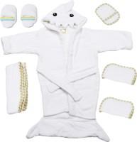 Belle Maison Baby Bath Robe Set (6Pcs.) 0-6 Month (White)