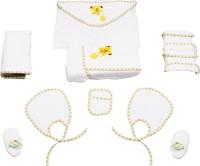 Belle Maison Baby Bath Robe Set (9Pcs.) 6-12 Month (White)